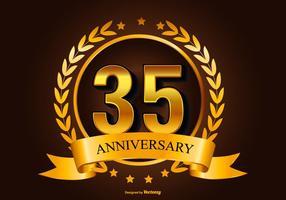 35e verjaardag illustratie