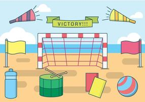 Vector libre de fútbol de la playa
