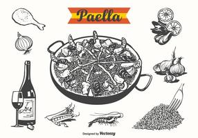 Illustration vectorielle gratuite Paella