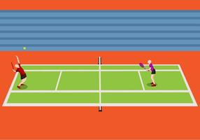 Illustration av tennisturnering