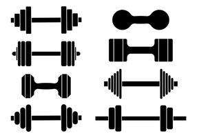 Dumbell Icons Vector