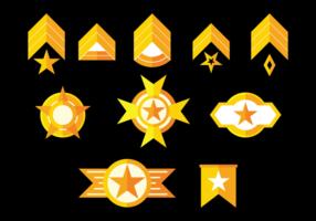 Brigadier Badges Vector