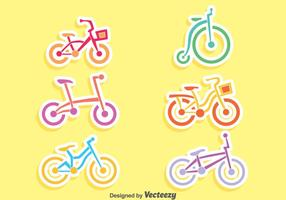 Nice Bicycle Set Vector