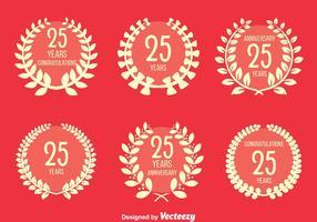 Conjunto de vetores agradável do aniversário