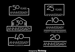 Simple Anniversary Collection Vector Set