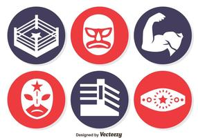 Wrestling Element Circle iconen Vector