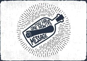 Free Message in a Bottle Hand Lettering Vector