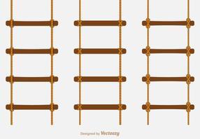 Escaleras libres de la cuerda del vector
