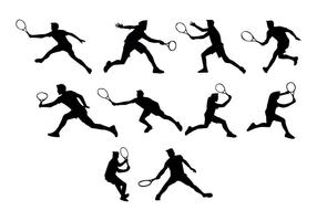 Free Tennis Silhouettes Vector