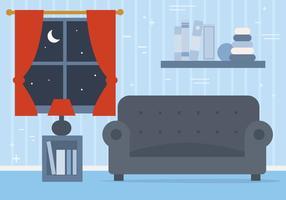 Sala de estar libre del vector