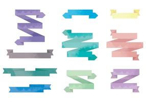 Vector Watercolor Ribbons