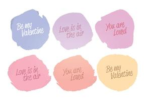Vector Watercolor Love Messages