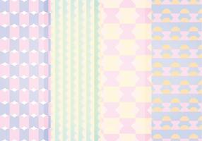 Patterns géométriques en pastel pastel vectoriel