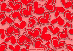 Corazones Seamless Pattern - Vector