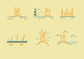 Gratis Sea Oats Vector