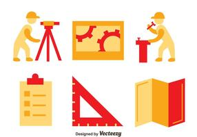 Surveyor Icons Vektor Set