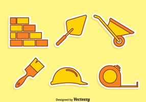 Home Construction Tool Ikoner Vector