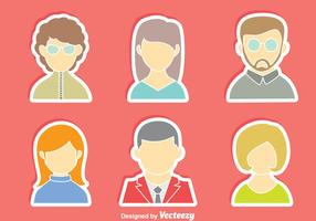 Personas Avatar vector set