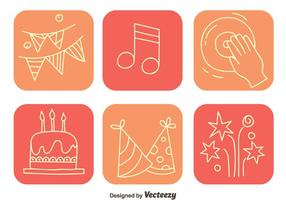 Party-Element quadratischen Icons