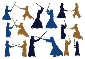 Japanese Kendo Silhouettes