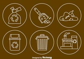 Mülllinie Icons Vektor