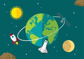 Globus plana vector libre