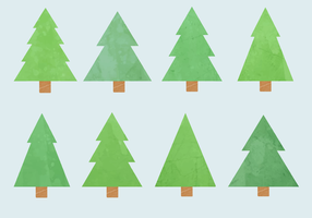 Vecteur d'arbre de Noël d'aquarelle gratuit