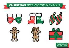 Kerstmis gratis vector pack vol. 3