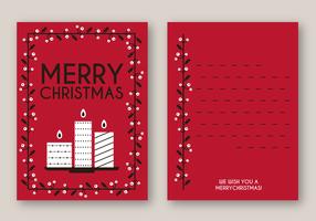 Libre Merry Tarjeta de Navidad Vector