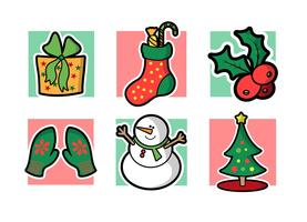 Kerstmis gratis vector pack vol. 2