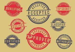 Grunge Retro Briefmarken