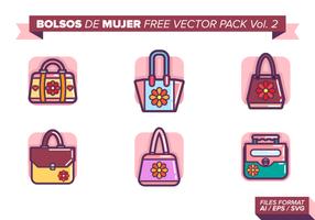 Bolsos de mujer pacote vetorial grátis vol. 2
