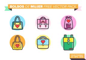Pack de vecteur gratuit Bolsos de Mujer