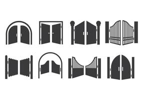 Open Gate Icons Vector