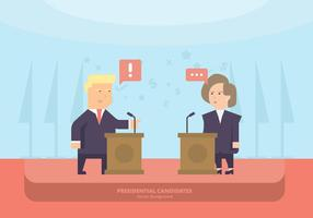 US Politicians Lectern Background vector