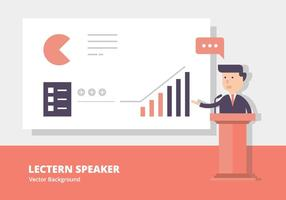 Lectern Speech Background vector