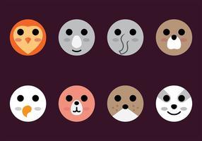 Vector d'icône de tête d'animal