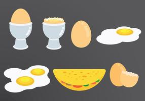 Omelet Icons Vector