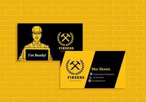 Naamkaart Fiksers Sjabloon Vector