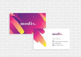 Name Card ModisTemplate Vector