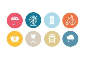 London Flat Icon Set vector