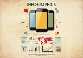 Retro infographics vector