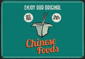Chinese Takeout Retro Vector