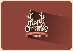 Merry Christmas Antler Vector