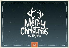 Merry Christmas Everyone Cartoon Vector