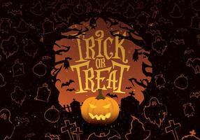 Trick oder Treat Spooky Vector