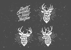 Holiday Deer Vector