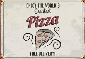 World's Greatest Pizza Retro Vector