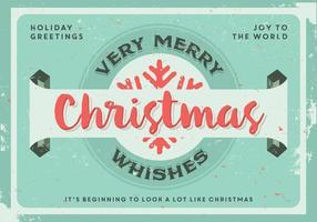 Vecteur de voeux très joyeux Noël