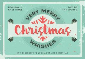 Sehr frohe Weihnachten wünscht Vektor